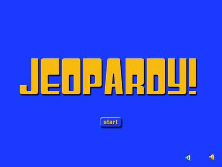 Jeopardy Opening Game Board $ 200 $ 200 $ 200 $ 200 $ 200 $ 400 $ 400 $ 400 $ 400 $ 400 $ 10 0 $ 10 0 $ 10 0 $ 10 0 $ 10 0 $ 300 $ 300 $ 300 $ 300 $