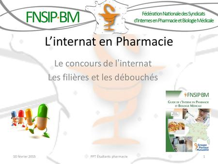L'internat en Pharmacie