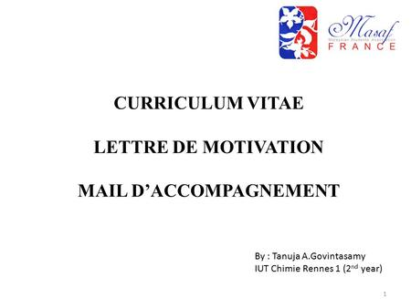 MAIL D'ACCOMPAGNEMENT