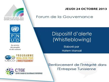 Dispositif d'alerte (Whistleblowing)