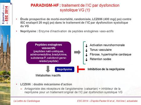 PARADIGM-HF : traitement de l'IC par dysfonction systolique VG (2)