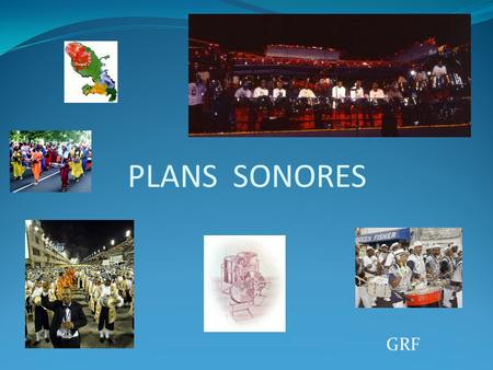 PLANS SONORES GRF.