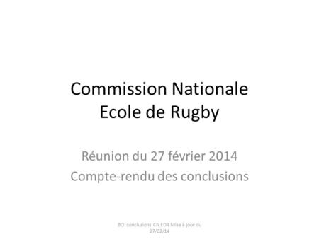 Commission Nationale Ecole de Rugby