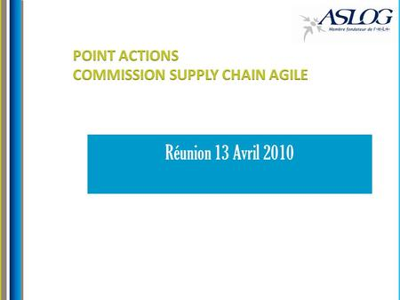 POINT ACTIONS COMMISSION SUPPLY CHAIN AGILE