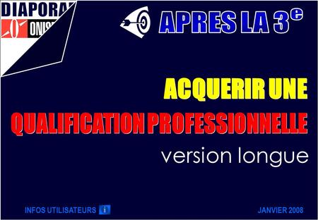 QUALIFICATION PROFESSIONNELLE
