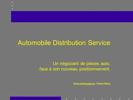Automobile Distribution Service