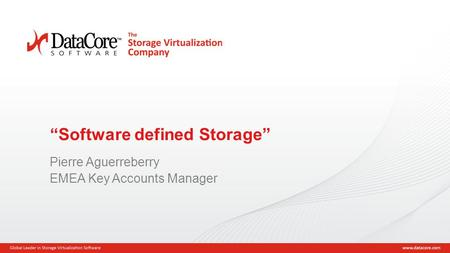 """Software defined Storage"""