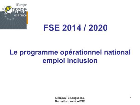 Le programme opérationnel national emploi inclusion