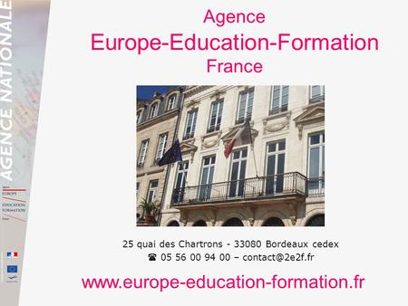 Agence Europe-Education-Formation France