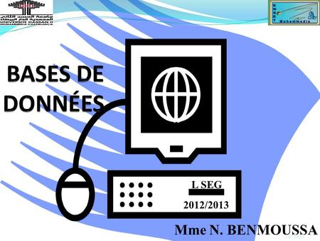 Mme N. BENMOUSSA LP SEG 2012/2013 L SEG. BASE DE DONNEES ?