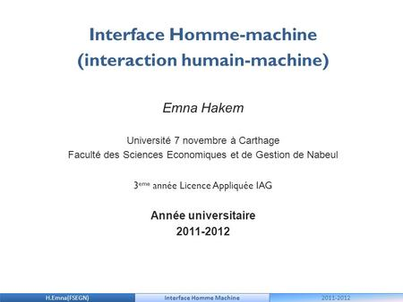 Interface Homme-machine (interaction humain-machine)