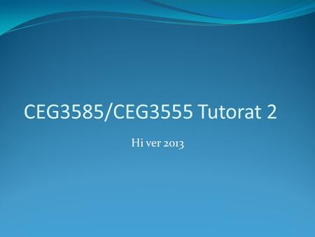 CEG3585/CEG3555 Tutorat 2 Hi ver 2013. Architecture TCP/IP Les applications sont développées avec le socket API (en Java les classes Socket et ServerSocket)