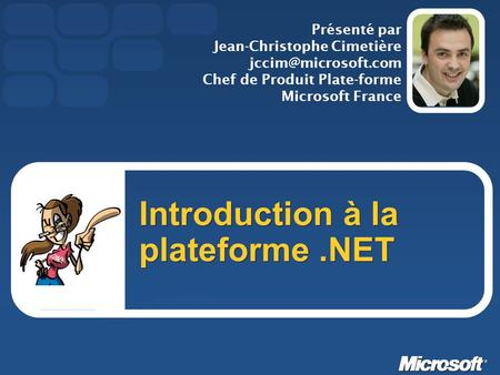 Introduction à la plateforme .NET