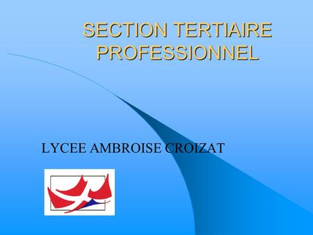 SECTION TERTIAIRE PROFESSIONNEL LYCEE AMBROISE CROIZAT.