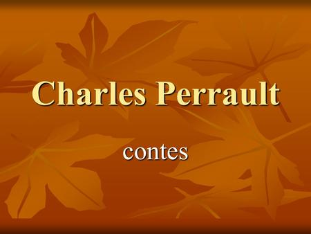 Charles Perrault contes.