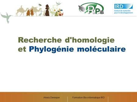 Formation Bio-informatique IRD