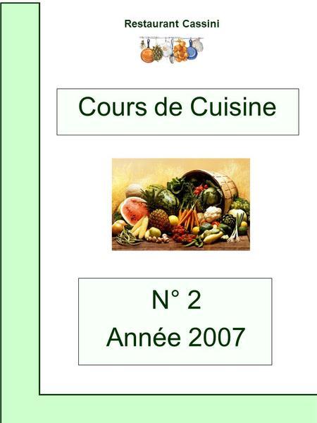 Pr sentation de cours assist s par ordinateur ppt - Cours de cuisine par internet ...