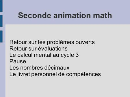 Seconde animation math