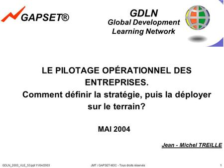 12/04/2017 GAPSET® GDLN Global Development Learning Network