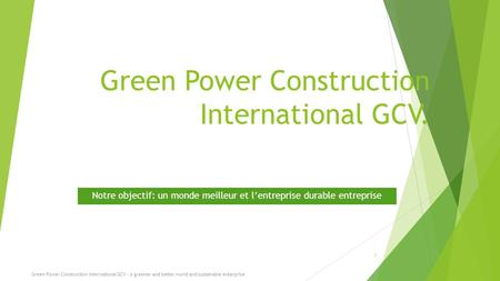 Green Power Construction International GCV.