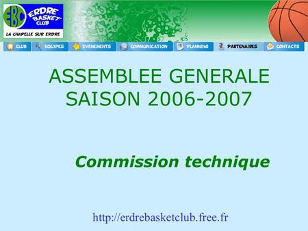 Commission technique ASSEMBLEE GENERALE SAISON 2006-2007