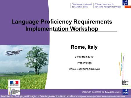 Language Proficiency Requirements Implementation Workshop
