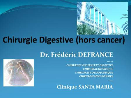 Chirurgie Digestive (hors cancer)