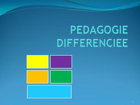 PEDAGOGIE DIFFERENCIEE