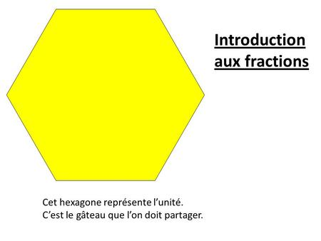 Introduction aux fractions