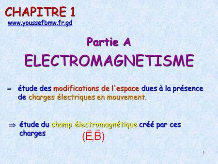 Electrostatique- Chap.1