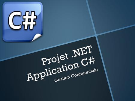 Projet .NET Application C#