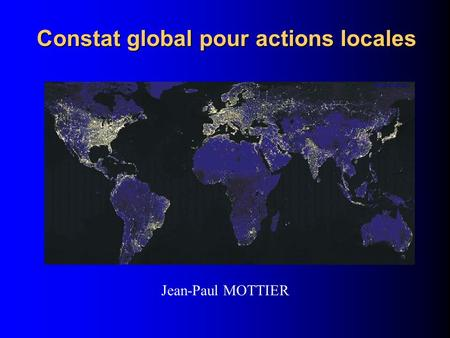 Constat global pour actions locales