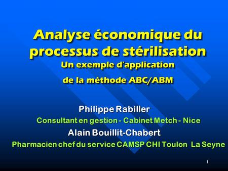 Philippe Rabiller Consultant en gestion - Cabinet Metch - Nice