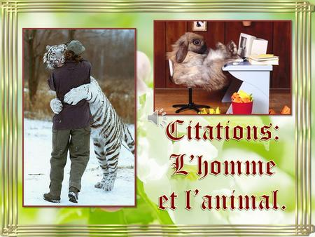 Citations: L'homme et l'animal..