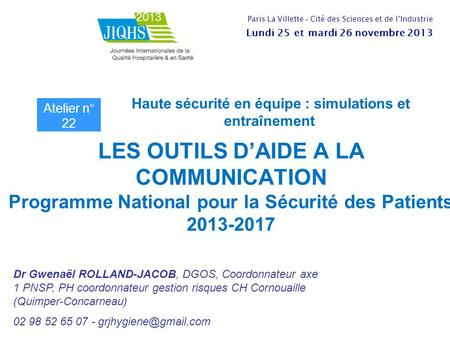 programme national pour securite patients