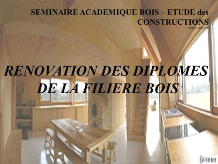 RENOVATION DES DIPLOMES