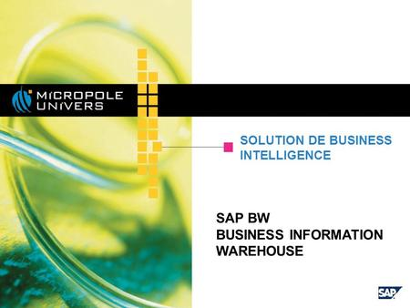 SAP BW BUSINESS INFORMATION WAREHOUSE SOLUTION DE BUSINESS INTELLIGENCE.