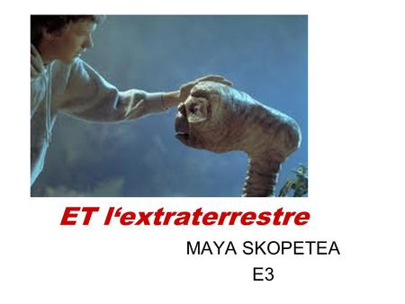 ET l'extraterrestre MAYA SKOPETEA E3. E.T. movie theme - full - HQ chanson.
