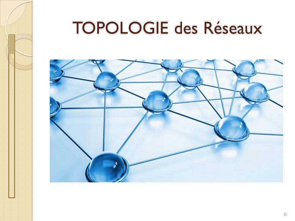 Topologie des Réseaux La topologie est une représentation d un réseau Topologie physique : point de vue de l emplacement des matériels Topologie logique : point de vue du parcours de linformation 7