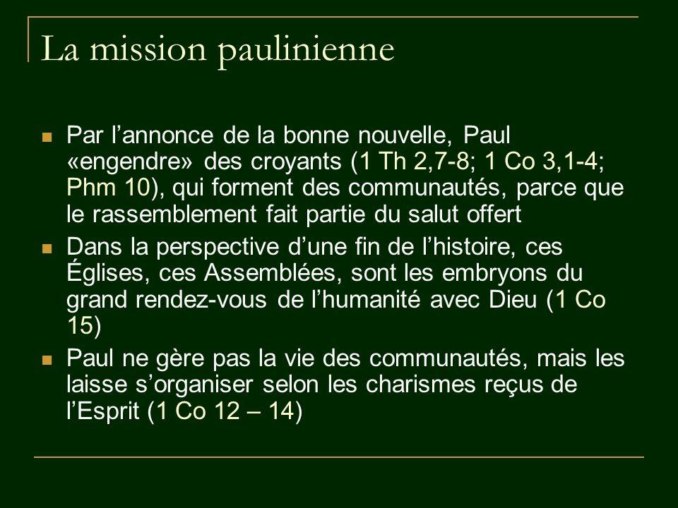 Paul apôtre Paul aspire à la reconnaissance de son envoi par le Christ ressuscité (1 Co 1,1; 9,1-2; 15,3-9; 2 Co 1,1; 12,12; Ga 1,1; 2,8; Rm 1,1; 11,13) Cest en ce sens quil revendique le titre dapôtre : en tant que témoin du Ressuscité, envoyé par lui.