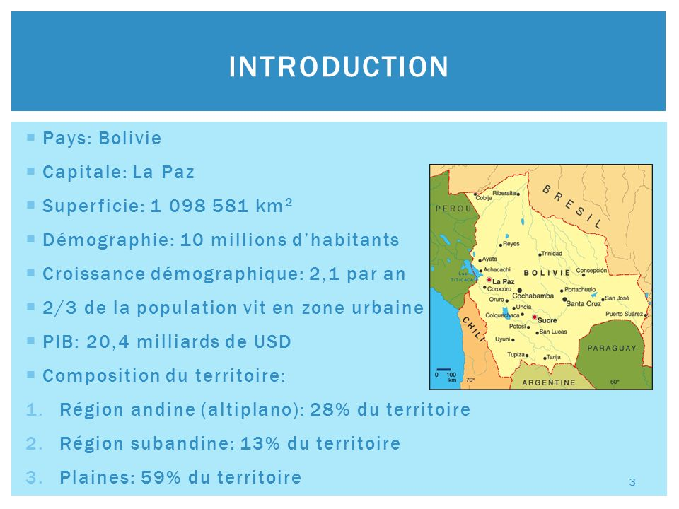 La Bolivie en Amérique Latine: 1.2 ème réserve en gaz naturel après celle du Venezuela 2.4 ème en production de gaz naturel 3.5 ème en ce qui concerne les réserves de pétrole Principaux gisements (60% de la production de gaz naturel): 1.San Alberto 2.Sábalo 3.Margarita RESSOURCES DE LA BOLIVIE 4