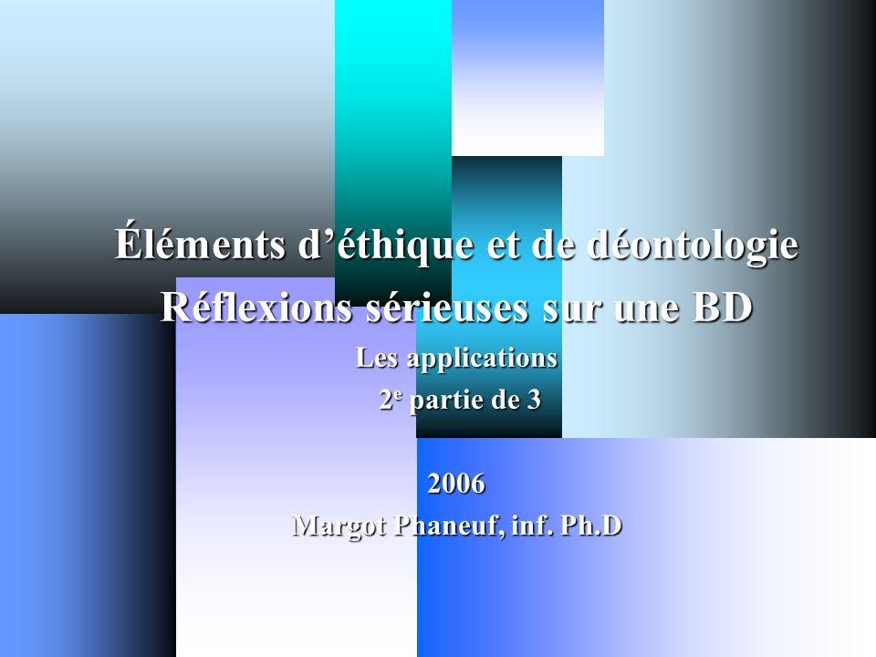 Margot Phaneuf Inf.PhD.2 OBJECTIFS.