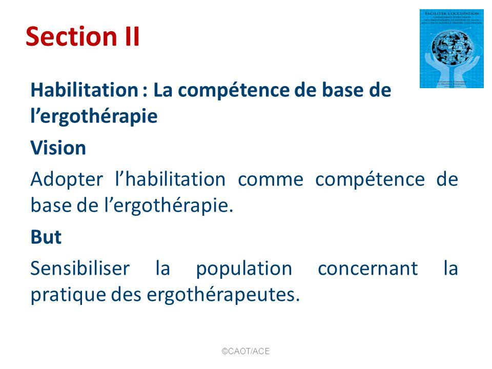 Habilitation : La compétence de base de lergothérapie 4.