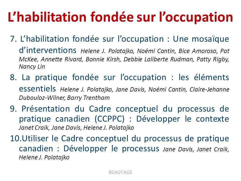 Létendue de lergothérapie axée sur lhabilitation ©CAOT/ACE