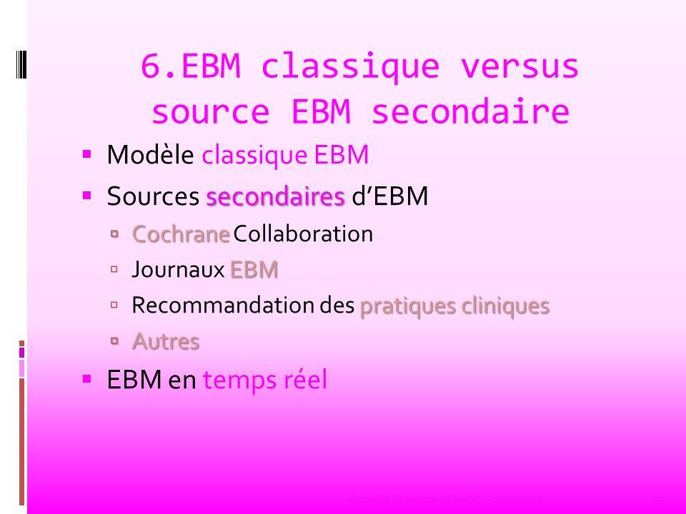 La pratique de lEBM selon le modèle classique Formuler une question à partir dun cas concret.