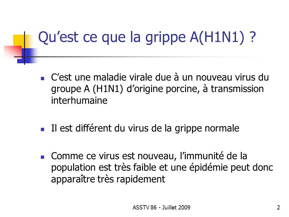 Comment attrape ton la grippe A(H1N1) .