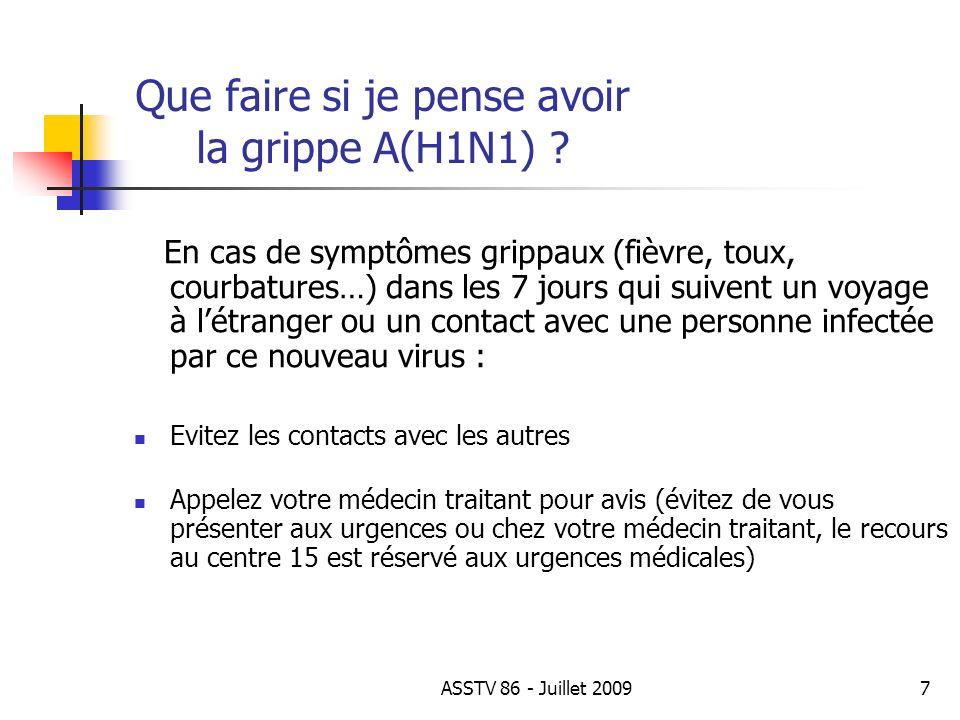 Que puis je faire pour éviter la propagation de la grippe A(H1N1) .