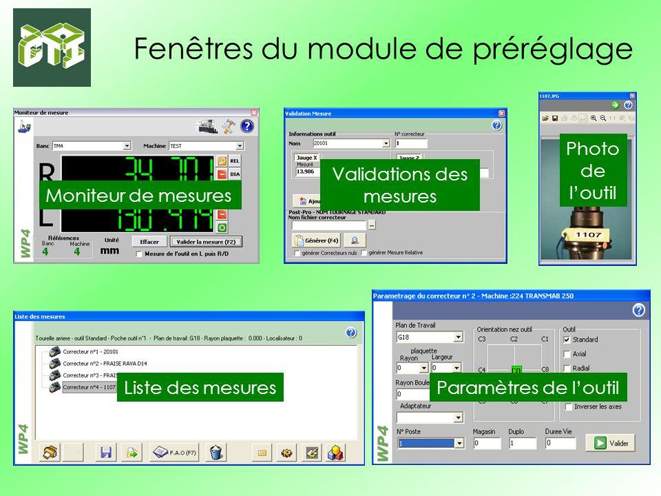 Module transfert de programme Infos sur létat des COM Photo machine sélectionnée Infos machine sélectionnée Répertoires de la machine Programmes affectés à la machine