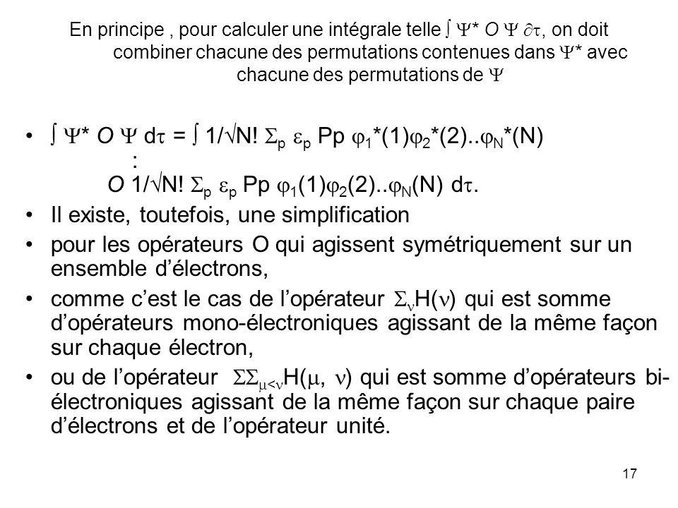 cours DESA COEC N.Komiha18 On peut réduire le déterminant * à sa diagonale principale à condition de supprimer les deux facteurs 1/ N.