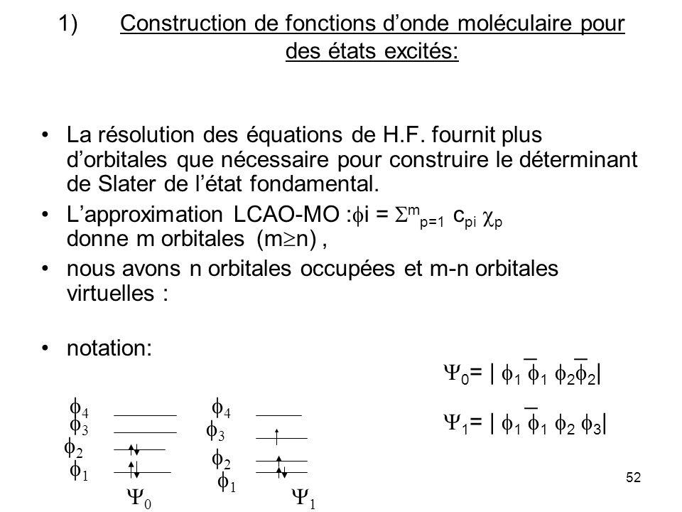 cours DESA COEC N.Komiha53 La méthode de Hartree-Fock comporte des défauts: elle décrit imparfaitement la répulsion électronique, chaque électron évolue librement dans le champ des noyaux et le champ moyen des autres électrons,le mouvement dun électron ninflue donc pas,comme il le devrait, sur la position instantanée dun autre électron.